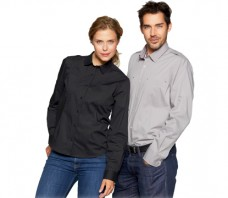 Strech Cafehemd ID line Langarm 0212 Herren 0213 Damen